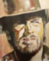 Clint,Eastwood,Art,Portrait,Original,High,Plains,Drifter,Mark,Fox