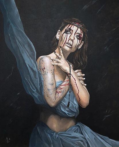 religion,sexy,atheist,girl,acrylic,original,artwork,markfox,awesome