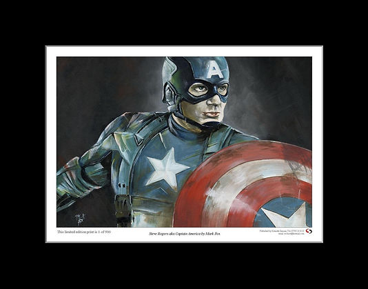 Captain,America,Marvel,Steve,Rodgers,Art,Print,Mark,Fox