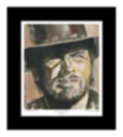 Clint,Eastwood,High,Plains,Art,Original,Art,Print,Mark,Fox