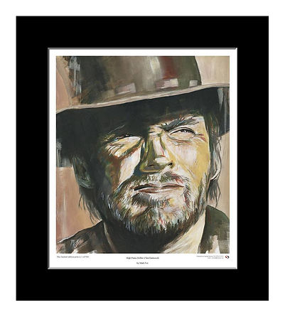 Clint,Eastwood,High,Plains,Art,Original,Art,Print,Mark,Fox
