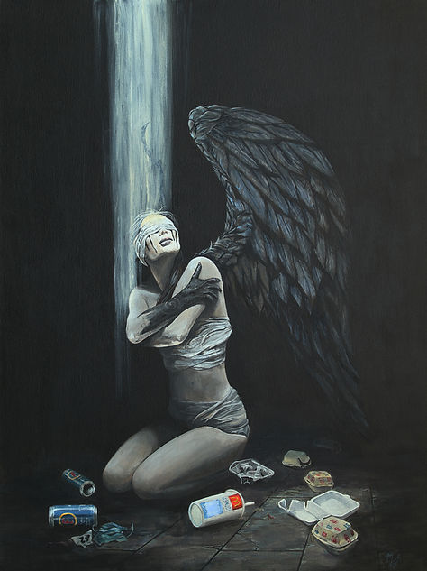 art,artist,portrait,painting,angel,markfox,acrylic