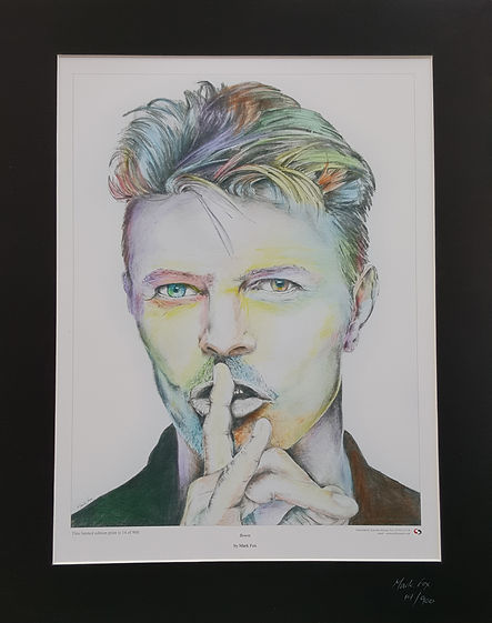 David,Bowie,Art,Original,Print,Mark,Fox