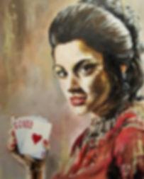 James Bond, Live and Let Die, Jane Seymour, Tarot, Solitaire, Icon, Classic, Portrait, Original, Art, Sex Symbol