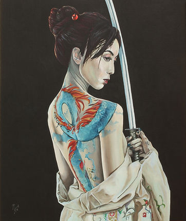 art,artist,original,acrylic,markfox,japanese,samurai,sexy,tattoo,ink