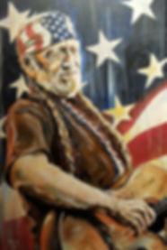 Art,Artist,Original,Willinelson,Music, Countrywestern, Portrait, Painting