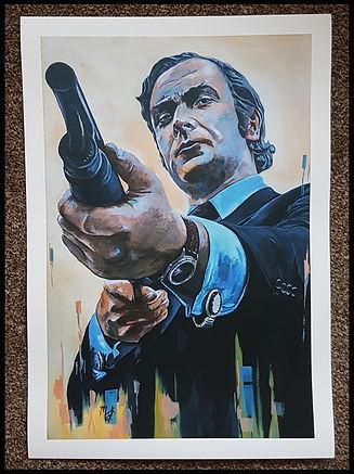 michaelcaine,jackcarter,getcarter,60s,art,print,original,painting