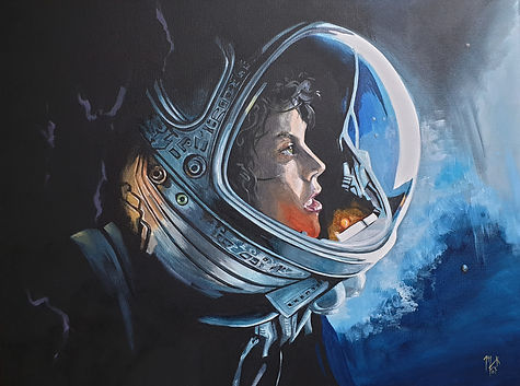 art,artist,original,painting,markfox,acrylic,alien,ripley,xenomorph,film,movie,scifi,classic