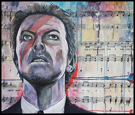 David, bowie,icon,singer,music,starman,majortom,aladdin,legend,acrylic,original