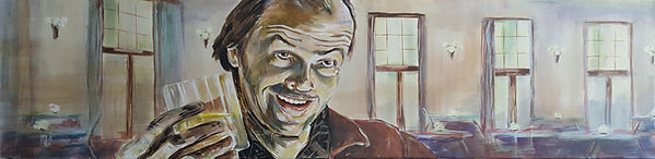 Art,artist,portrait,painting,original,print,acrylic,oils,movie,film,classic,icon,hero,stephenking,theshining,jacknicholson,torrance,horror