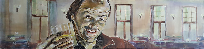 Shining,Jack,Nicholson,Drink,Overlook,Art,Painting,Mark,Fox