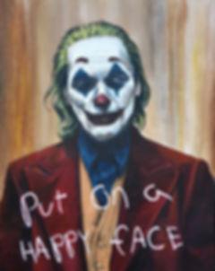 art,original,acrylic,painting,joker,batman,joaquin, phoenix,happy,mentalhealth
