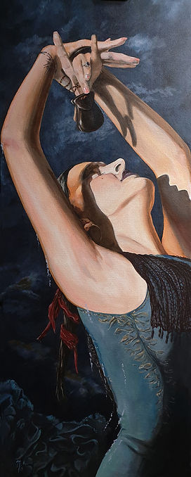 art,artist,portrait,painting,original,acrylic,sexy,ink,inkedgirl,spanish,flamenco,dance,markfox