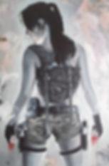 Art,artist,portrait,painting,original,print,acrylic,oils,movie,film,classic,icon,hero,sexy,tombraider,laracroft