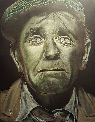 Art,Artist,Original,Pastel,Painting,Comedy,Icon,Norman,Wisdom,Mark,Fox