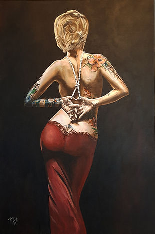 Art,artist,portrait,painting,original,print,acrylic,oils,sexy,tattoo,ink,inkedgirl,tattooed,beauty,seductive,girl,woman,lady,stripper,suggestive