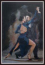tango,dance,art,artwork,painting,acrylic,classy,sexy,suit,redshoes,artist,original,beauty
