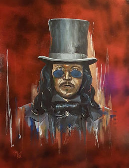 Art,artist,portrait,painting,original,print,acrylic,oils,movie,film,classic,icon,hero,garyoldman,dracula,horror,tophat