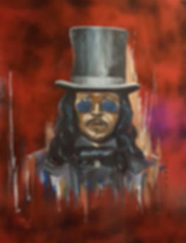 Dracula, Gary Oldman, Art, Painting, Portrait, Horror, Scary, Portrait, Top Hat, Vampire, Original