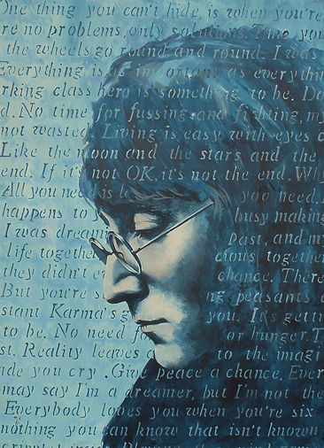art,artist,original,acrylic,lennon,johnlennon,beatles,markfox,awesome