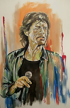 Art,artist,portrait,painting,original,print,acrylic,oils,movie,film,classic,icon,hero,singer,mick,jagger,rolling,stones,rock,veteran