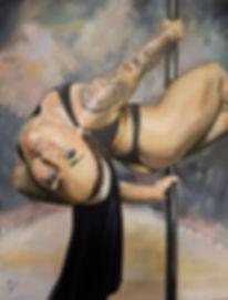 Art,Sexy,Wicked,Nun,Poledancer,Stripper,Tattoo,Ink,Inkgirl,Dance,Original,Painting