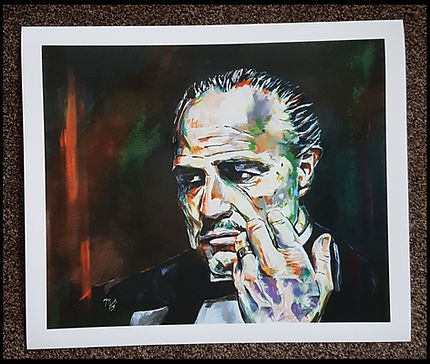 brando,godfather,gangster,movie,film,icon,classic,art,print,artist,painting