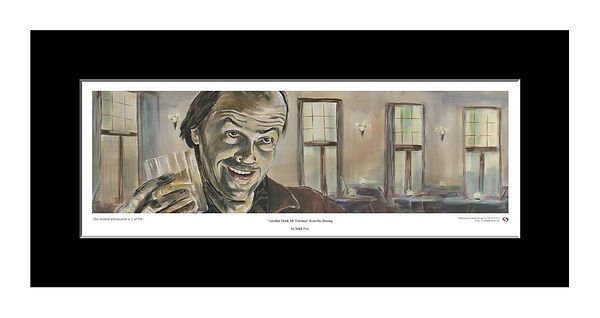 Shining,Jack,Nicholson,Torrance,Overlook,Art,Original,Print,Mark,Fox