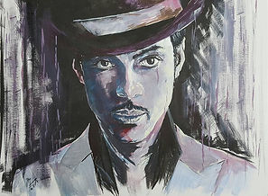 Art,artist,portrait,painting,original,print,acrylic,oils,movie,film,classic,icon,hero,music,singer,prince,purplerain,nothingcompares,purple,symbol