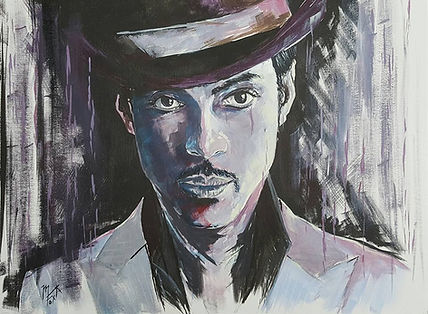Prince,Legend,Icon,Portrait,Purplerain,Original,Print,Art,Artwork,Mark,Fox