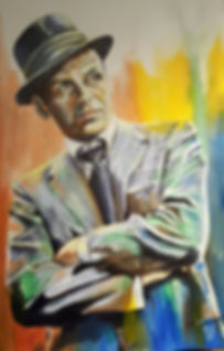 Frank,Sinatra,Icon,Original,Art,Painting,Blueeyes, Mark, Fox