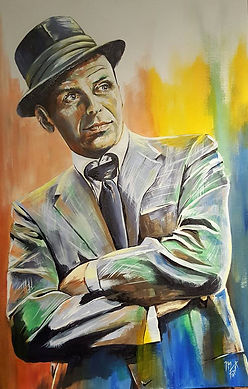 Art,artist,portrait,painting,original,print,acrylic,oils,movie,film,classic,icon,hero,singer,sinatra,francisalbert,crooner,hollywood,hat,smooth,ratpack
