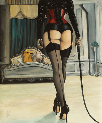 sexy,stockings, art, artwork, markfox, painting, original,rainbow,