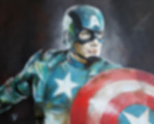 Captain,America,Marvel,Art,Original,Painting,Mark,Fox