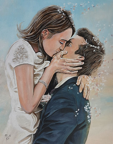Art,artist,portrait,painting,original,print,acrylic,oils,movie,film,classic,icon,hero,wedding,honeymoon,thekiss