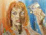 Art,Artist,Original,Portrait,Painting,Acrylic, Fifthelement,Leeloo