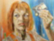 Art,artist,portrait,painting,original,print,acrylic,oils,movie,film,classic,icon,hero,fifthelement,brucewillis,scifi,multipass,leeloo