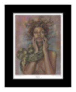 Rihanna,Medusa,Art,Print,Pastel,Original,Mark,Fox