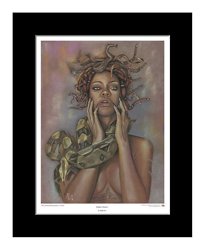 Rihanna,Medusa,Art,Print,Pastel,Original,Mark,Fox