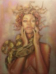 Art,Original,Pastel,Painting,Rihanna,Medusa,Mark,Fox