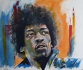 Art,artist,portrait,painting,original,print,acrylic,oils,movie,film,classic,icon,hero,jimi,hendrix,guitar,singer,rock,sixties,lefthanded