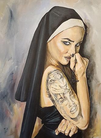 Wicked, nun, sexy, ink, tattoo, inkedgirls, tattooed, habit