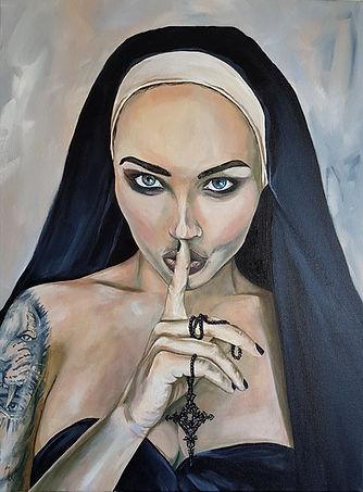 Wicked, Nun, 2, Sexy, Ink, Tattoo, Inkedgirl, Tattooed, Habit, Naughty, Religious