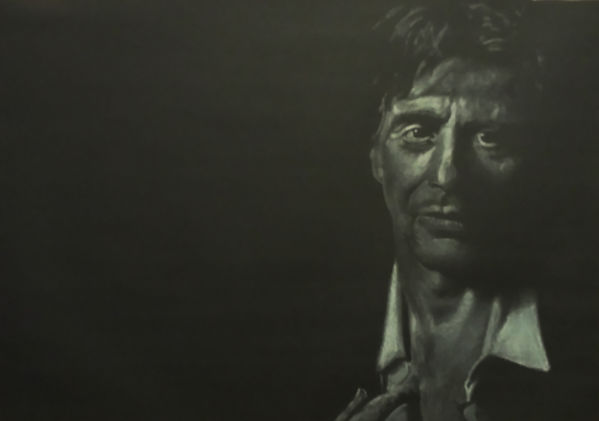 Al,Pacino,Art,Original,White,Black,Chalk,Mark,Fox