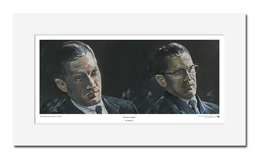 Krays,Ronnie,Reggie,Tom,Hardy,Art,Original,Print,Mark,Fox