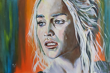 Art,artist,portrait,painting,original,print,acrylic,oils,movie,film,classic,icon,hero,sexy,gameofthrones,blonde