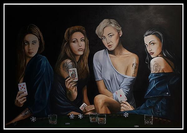 Sexy, tattoo, art, inked, inkedgirl, money, poker, gamble, tattoo, girl, cards, game, club, drink, glasses