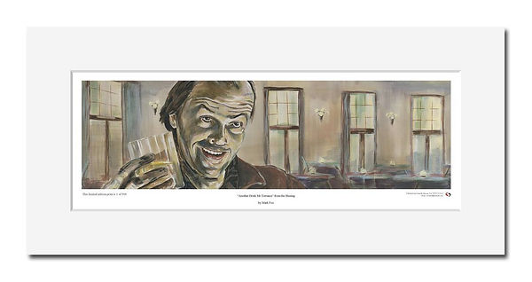 Shining,Jack,Torrance,Art,Overlook,Print,Original,Jack,Nicholson,Print,Mark,Fox