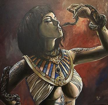 Art,artist,portrait,painting,original,print,acrylic,oils,sexy,tattoo,ink,inkedgirl,tattooed,beauty,seductive,girl,woman,lady,stripper,suggestive,egyptian,cleopatra,snake,asp