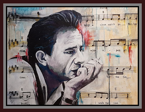 Johnny,cash,icon,legend,maninblack,art,classic,ringoffire,iwalktheline,original,painting,acrylic